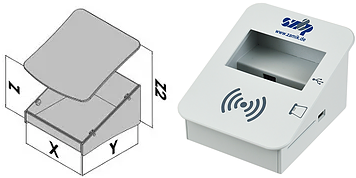 Gray metal electronic enclosure design
